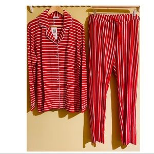 NEW Women Long Sleeve Pajama Set Full-Length Pants